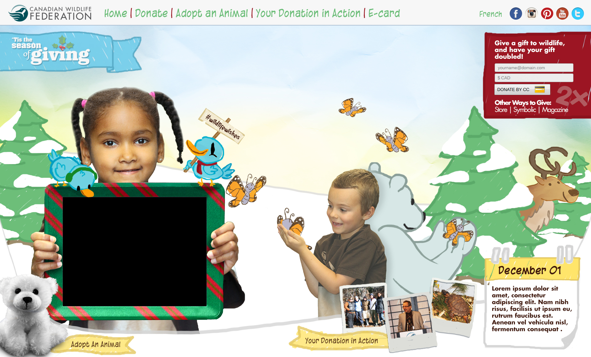 "CWF ""HOLIDAY WISHES"" Campaign 2015"